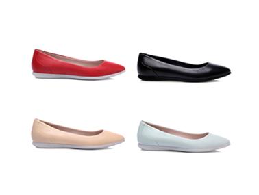 COZY STEPS 2018春季新款时尚浅口尖头平底休闲鞋
