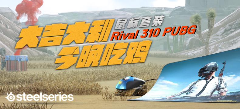 【众测狂欢】 SteelSeries 赛睿 Rival 310 PUBG绝地求生限量版鼠标+鼠标垫套装