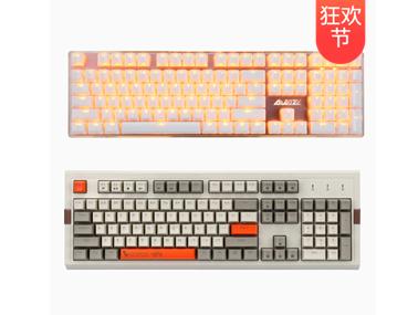 【众测狂欢】AJAZZ黑爵 AK510 复古球帽 / 朋克晶彩 机械键盘