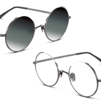 TAPOLE 四分之三 凹造型圆形眼镜