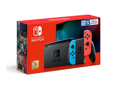 Nintendo Switch™ 国行续航增强版(附国行3款实体游戏卡+配件pro手柄和amibo*2)