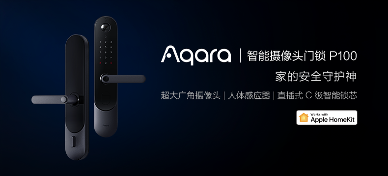 Aqara智能摄像头门锁P100