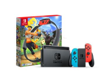 【健身环组合】任天堂 Nintendo Switch 国行续航增强版红蓝主机 & 健身环大冒险游戏