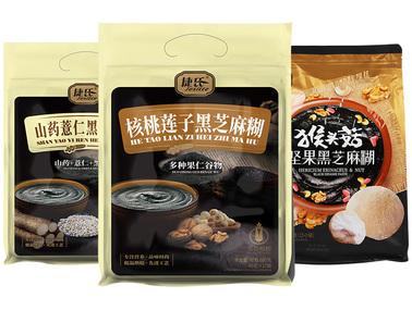 【轻众测】捷氏黑芝麻糊系列套装 3种口味共3袋(核桃莲子+山药薏仁+猴头菇坚果)