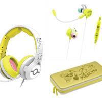 HORI Switch任天堂授权宝可梦 头戴式耳机+入耳式耳机+主机铝盒保护包(颜色随机)