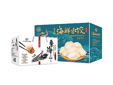 福迪宝速冻海鲜水饺年货礼盒  手工水饺全家福