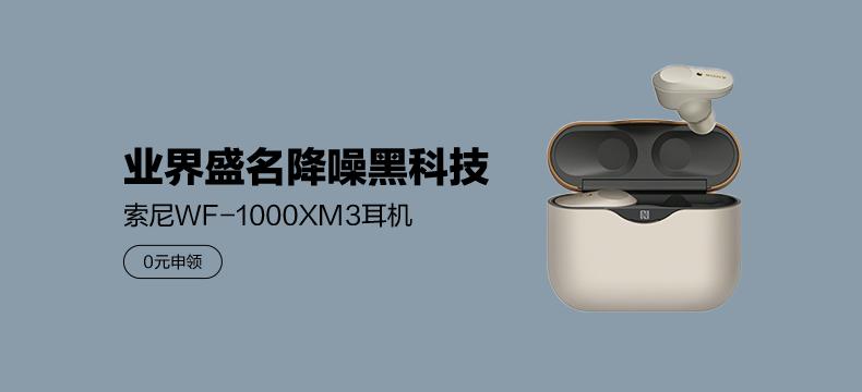 索尼WF-1000XM3真无线降噪耳机  颜色随机